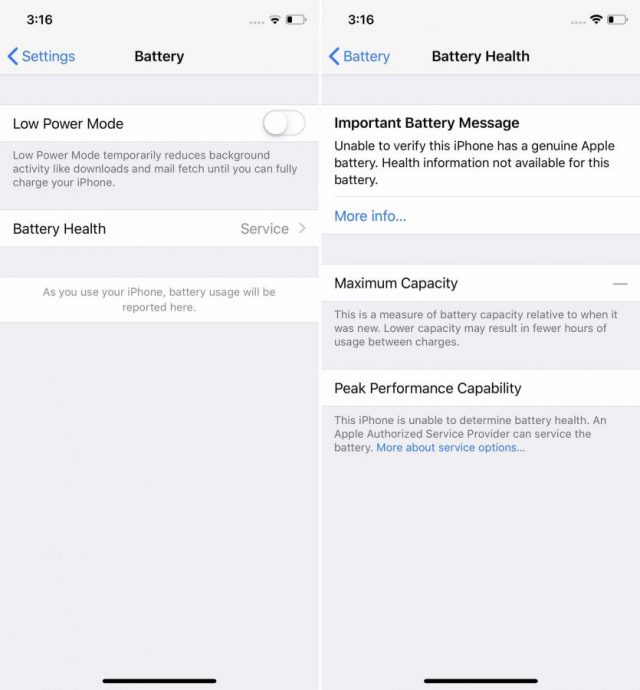 Apple Locked Batteries to Prevent Third-Party Replacement