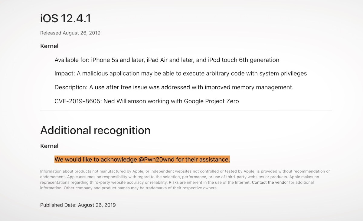 Apple Patches Fixed Security Bug That Allowed Iphone Jailbreak