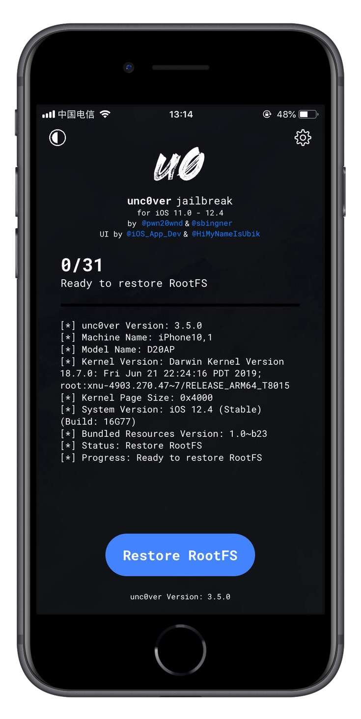 iOS 12.4 Jailbreak: use Unc0ver Comes with Features to Clear the Jailbreak Environment