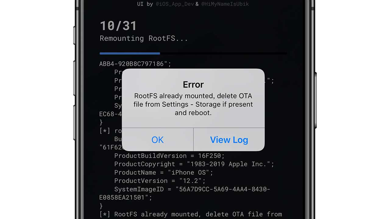 How to Solve if Unc0ver Popping out RootFS already mounted error when Jailbreaking?​