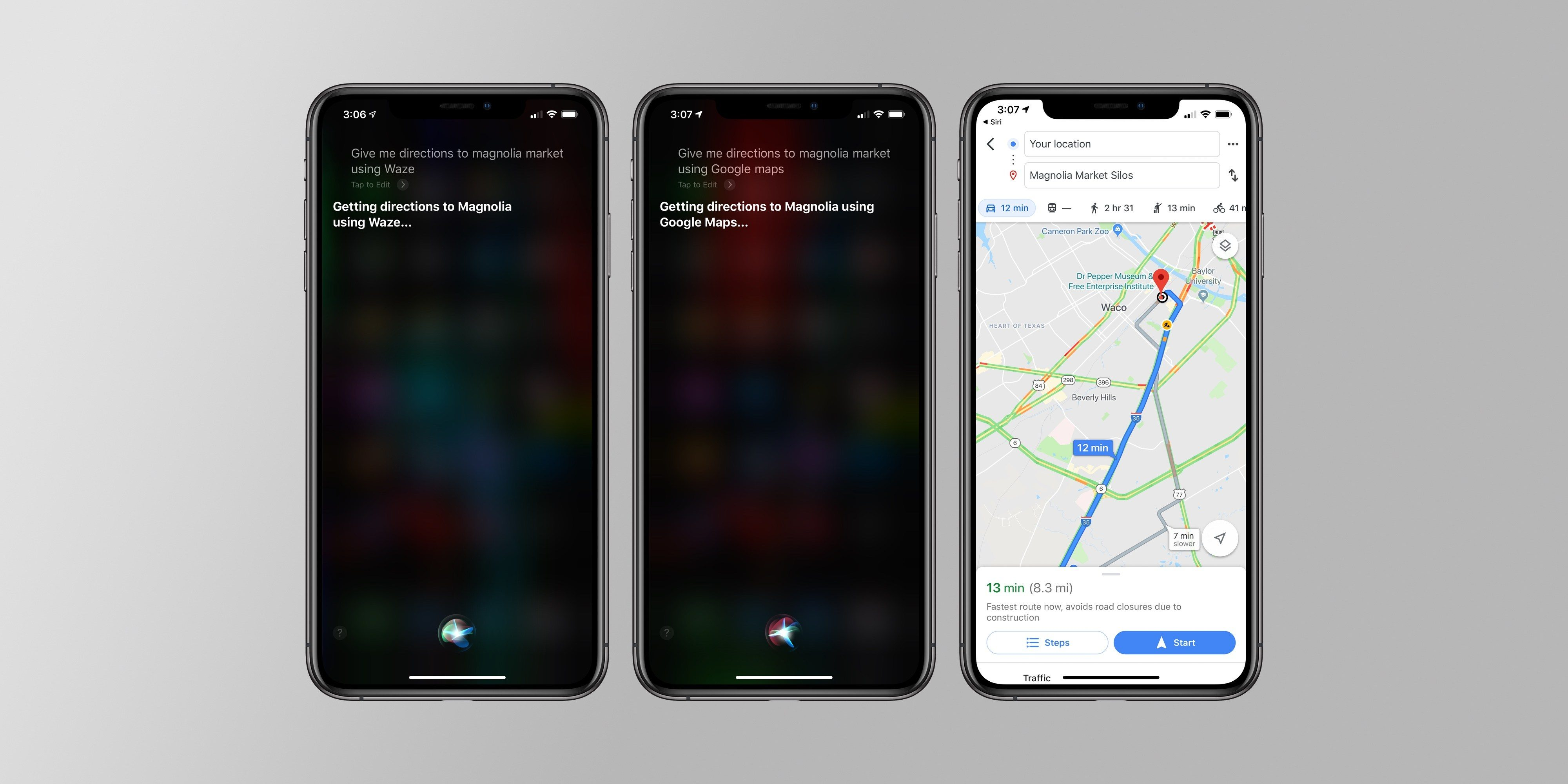 Google Maps, Waze, and Pandora now work Natively with Siri on iOS 13