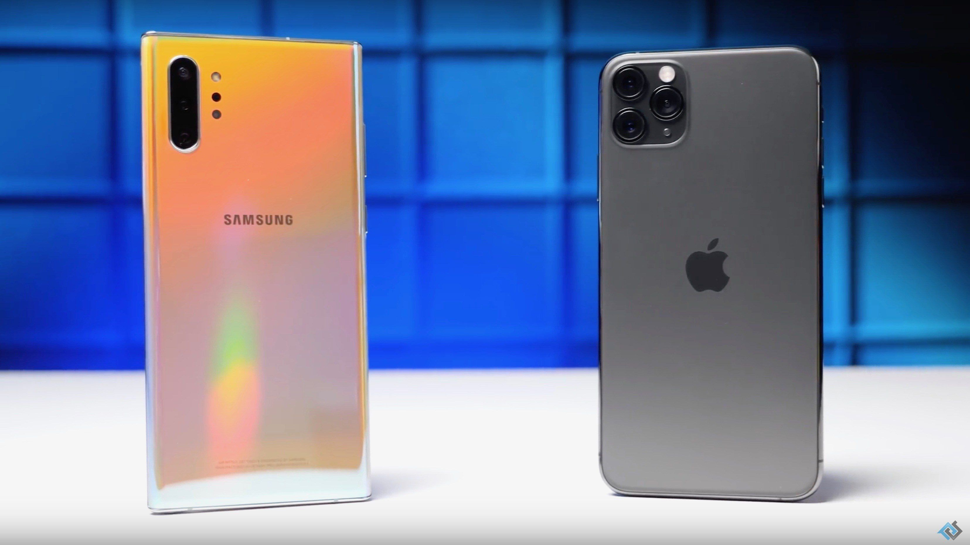 iPhone 11 Pro Max Paced Behind Samsung Galaxy Note 10+ Speed Test
