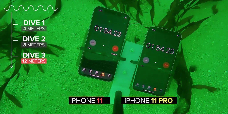 Ultimate iPhone 11 Waterproof Test Uses Underwater Drone to Dive 39 feet