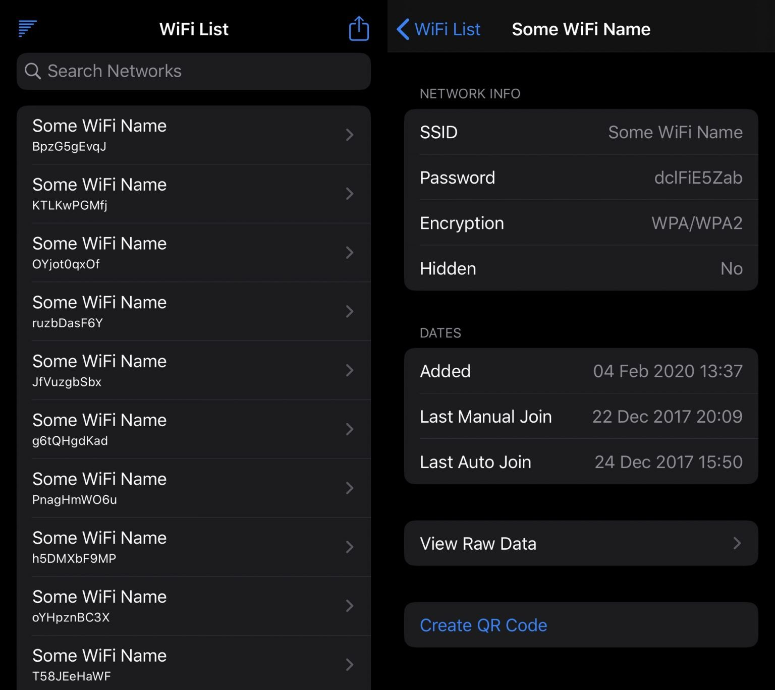 WiFi List Lets iPhone Users View Previous Wi-Fi Networks & Their Passwords