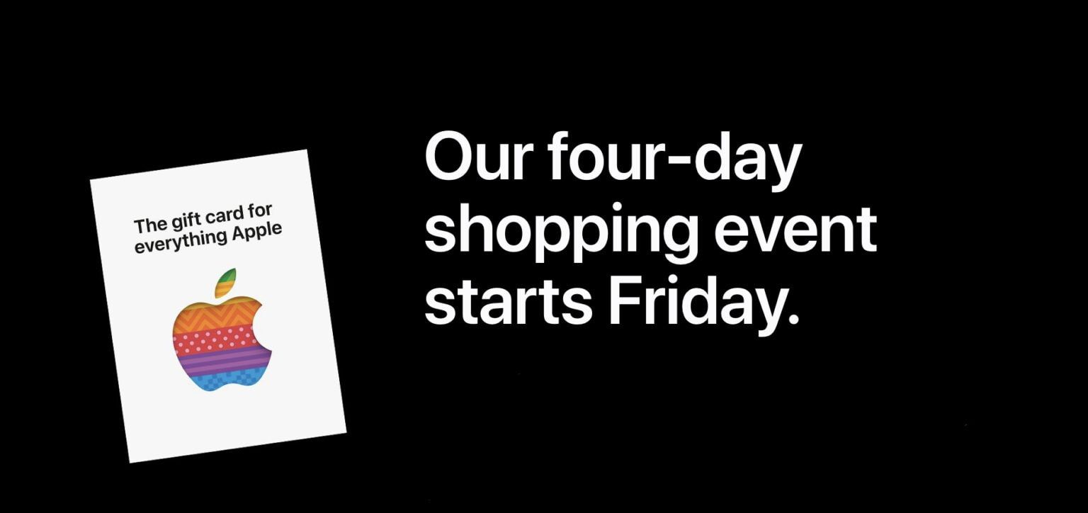 Apple Offers Gift Cards of up to $150 in New Black Friday Promotion