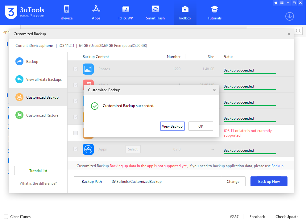 How to Choose Backup & Restore and Customized Backup & Restore?