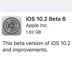 iOS 10.2 Beta 6 out for Developers and Public Testers Now