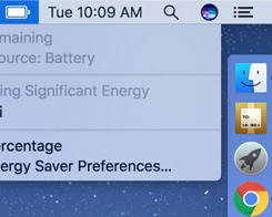 "MacOS Sierra 10.12.2 Removes ""Time Remaining"" Battery Life Indicator"