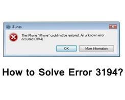 How to Fix Error 3194 in iTunes?