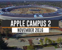 Apple Campus 2 Drone Video Shows Recent Progress on Spaceship-Shaped Building