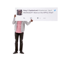 Apple Printed Out Giant Tweets for its New iPad Pro Ad Campaign