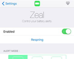 Zeal is a Battery Management System for Your Jailbroken iPhone or iPad