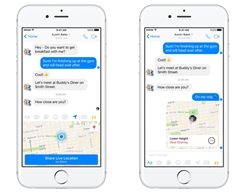 Facebook Updates Messenger for Apple's iPhone & iPad with Live Location Sharing