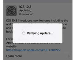 "How to Fix iDevice Stuck on ""Verifying Update"" During iOS 10.3 Update?"