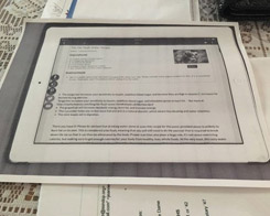 This Mom Apparently Takes Photocopies Of Recipes On Her iPad