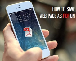 How to Save Webpages As PDFs on iPhone And iPad