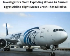 Apple Devices Being Investigated For Possible Connection to Egypt Air Crash