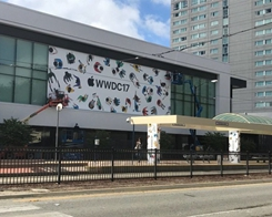 Apple Puts Up WWDC 2017 Decorations at San Jose's McEnery Convention Center