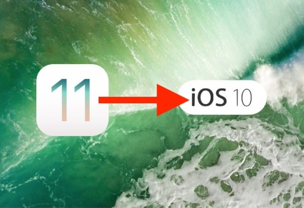 Solution for Errors after Downgrading to iOS 10.3.x from iOS 11