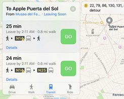 Apple Enables Maps Transit Directions in Madrid