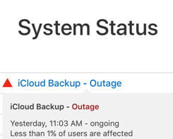 Apple's iCloud Backup Feature Has Been Down For Some Users Since Yesterday
