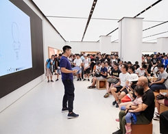 Apple's First Taiwan Retail Store Opening Draws Overnight Crowds