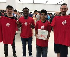 Indian Student is Youngest Customer at Apple Store Opening
