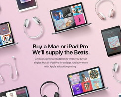 Apple Will Toss In A Pair of Beats Headphones For Students Who Buy A Mac or iPad Pro