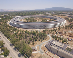 Apple Park Drone Footage Shows Construction of The Visitors Center