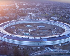 New Apple Park drone video shows work on landscaping & visitor's center