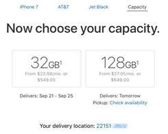 Apple is Now Offering 32GB on iPhone 7