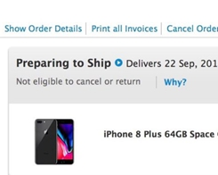 First iPhone 8 Now 'Preparing to Ship' From Apple