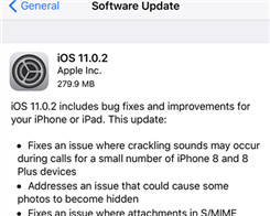 Apple Releases iOS 11.0.2 As It Claims to Have Fixed 'Crackling' Heard On Calls