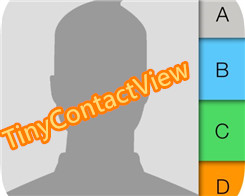 TinyContactView: Simplify the Contacts App Interface
