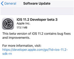 iOS 11.2 Beta 3 Is Available in 3uTools, Go Download It Now