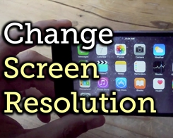 Change iPhone Resolution on iOS11 without Glitches
