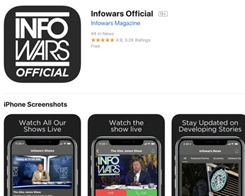 Apple Explains a Decision to Keep 'Infowars' App on App Store