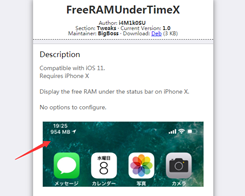 This Tweak Puts a Free RAM Indicator in the iPhone X's Status Bar