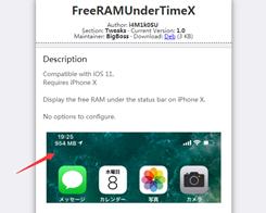 This Tweak Puts a Free RAM Indicator in the iPhone X's Status Bar