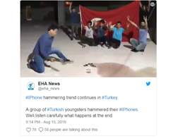 A Video Shows People Smashing iPhones After the Turkey's Apple boycott