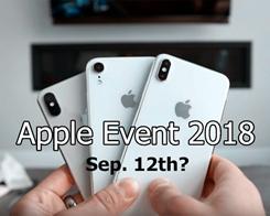 European Media Pegs 2018 iPhone Event for September 12