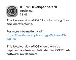 Apple Releases iOS 12 Developer Beta 11, Public Beta 9 for iPhone and iPad
