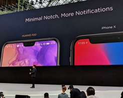 Huawei Size-Shames iPhone X Notch with Side-By-Side Comparison with its P20