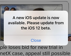 Apparent iOS 12 Beta Bug Causes Never-ending Notifications to Update Software