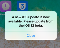 How to Fix Annoying Notification about Software Update on iOS 12 Beta 11?