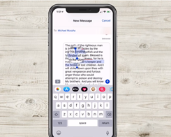 iPhone Keyboard Trick Discovered that Makes Texting Much Easier