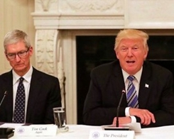 Apple's Cook So Far Absent From White House Tech Roundtable