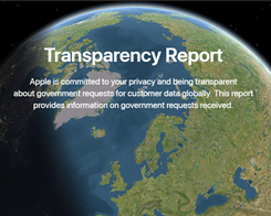 Apple's Latest Transparency Report Arrives As an Interactive Website