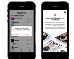 Apple News Subscription Service Preview Found in iOS 12.2 Beta