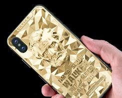 "Caviar Updated ""The Great Presidents Collection"" 24K Gold iPhone XS and XS Max"